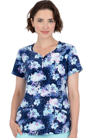 Premiere by Healing Hands Isabel Sweetheart Safari Oasis Print Top - 2218-SOA
