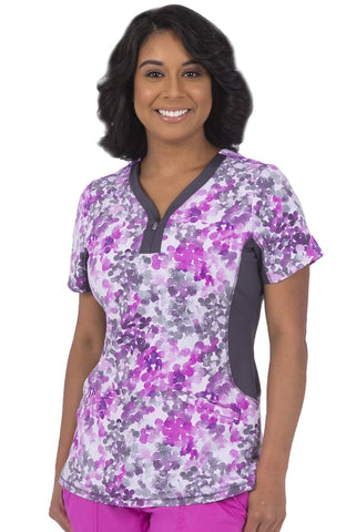 Premiere by Healing Hands Jessi Water Color Print Top - 2270-WAC