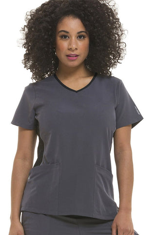 HH360° by Healing Hands Shona Contrast Sporty V-Neck Solid Top - 2296