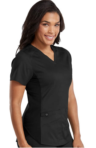 Touch by Med Couture Kerri V-Neck Shirttail Scrub Top - 7459