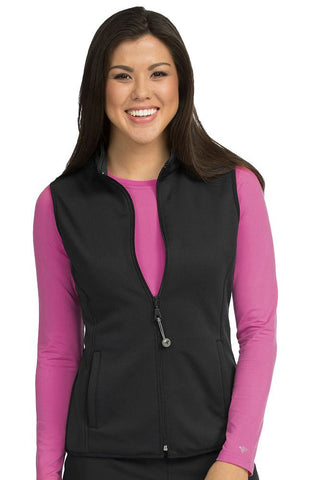 Med Couture Med Tech Zip Up Solid Vest - 8690