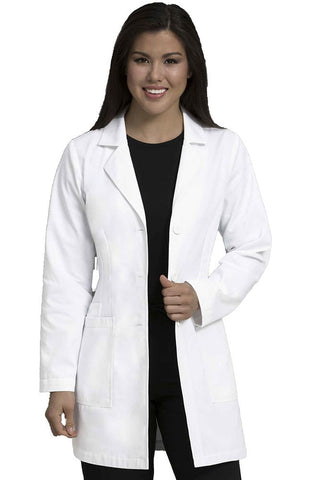 "Med Couture Women's 34"" Belted Back Lab Coat - 8692"