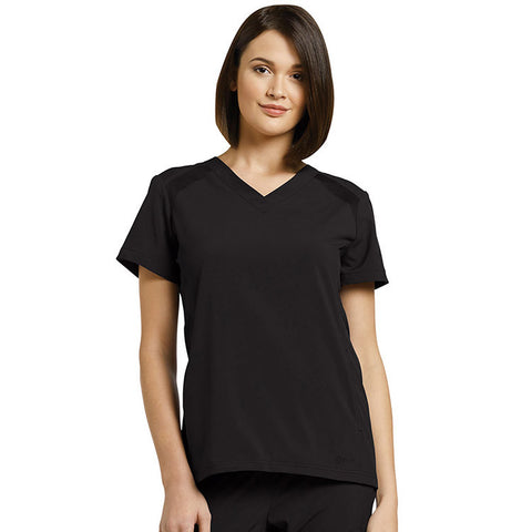 Fit by White Cross V-Neck Solid Scrub Top - 746