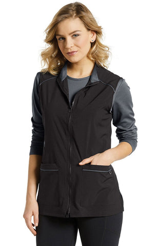 Fit by White Cross Zip Front Tech Solid Scrub Vest - 803