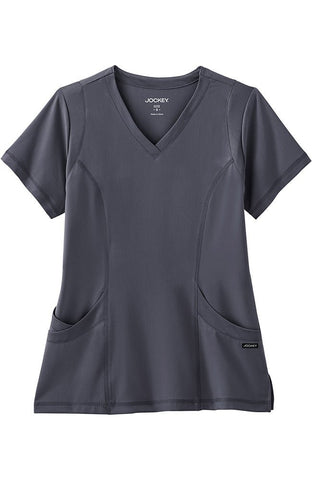 Modern Fit Collection by Jockey® Mesh Trim V-Neck Scrub Top - 2329