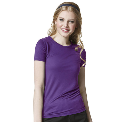 WonderWink Layers Silky Short Sleeve T-Shirt - 2209A - Mary Avenue Scrubs  - 1