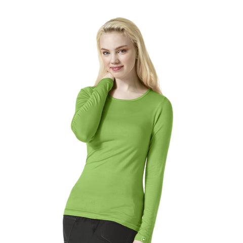 WonderWink Silky Long Sleeve Tee - 2009 - Mary Avenue Scrubs  - 2