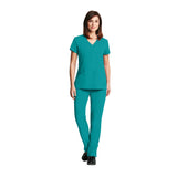 Grey's Anatomy Three Pocket Criss Cross V-Neck Top - 2115 - Mary Avenue Scrubs  - 4