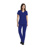 Grey's Anatomy Three Pocket Criss Cross V-Neck Top - 2115 - Mary Avenue Scrubs  - 1