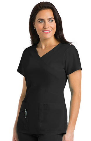 Signature by Grey's Anatomy™ Mock Wrap Solid Scrub Top - 2130