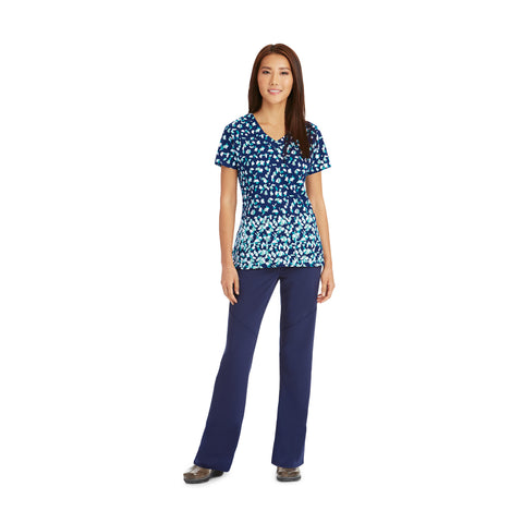 Grey's Anatomy Signature Three Pocket V-Neck Print Top - 2138 - Mary Avenue Scrubs  - 1
