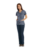 Grey's Anatomy Signature Three Pocket V-Neck Print Top - 2138 - Mary Avenue Scrubs  - 2