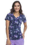 Healing Hands Purple Haze Isabel Print Top - 2218-SVI