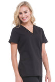 Healing Hands Amanda V-Neck Embossed Top - 2266-STS - Mary Avenue Scrubs  - 1