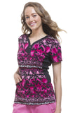 Premiere by Healing Hands Jessi Y-Neck Side Panel Print Top - 2270-FOH