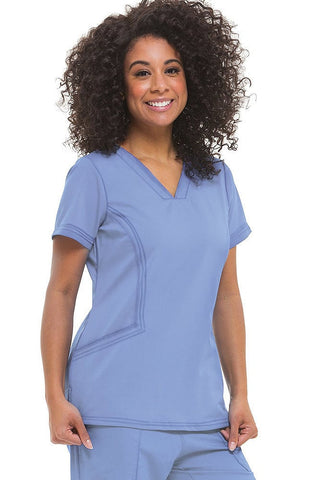 Purple Label Modern Fit by Healing Hands Joni V-Neck Solid Scrub Top - 2304