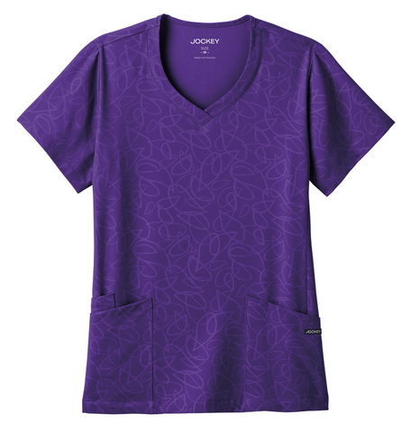 Jockey Angled Pocket V-Neck Top - 2337 - Mary Avenue Scrubs