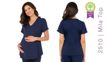 HH Works by Healing Hands Mila Maternity Scrub Top - 2510
