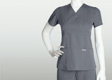 Grey's Anatomy Three Pocket Mock Wrap Top - 4153 - Mary Avenue Scrubs  - 3