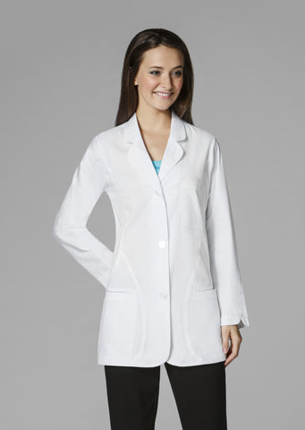 WonderWink Curved Detail Fashion Lab Coat - 7103