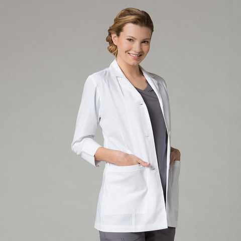 Maevn Women's 3/4 Sleeve Lab Coat - 7126 - Mary Avenue Scrubs