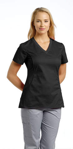 White Cross Allure V-Neck Scrub Top - 722 - Mary Avenue Scrubs  - 4