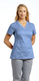 White Cross Allure V-Neck Scrub Top - 722 - Mary Avenue Scrubs  - 11