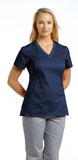 White Cross Allure V-Neck Scrub Top - 722 - Mary Avenue Scrubs  - 3