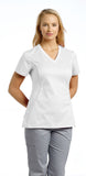 White Cross Allure V-Neck Scrub Top - 722 - Mary Avenue Scrubs  - 1