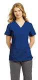 White Cross Allure Princess Seamed V-Neck Top - 751 - Mary Avenue Scrubs  - 1