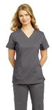 White Cross Allure Princess Seamed V-Neck Top - 751 - Mary Avenue Scrubs  - 2