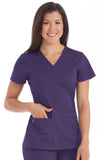 MC2 by Med Couture Everyday V-Neck Solid Scrub Top - 8497