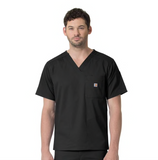 CROSS-FLEX by Carhartt Men's Slim Fit Pocket Solid Scrub Top - C16418