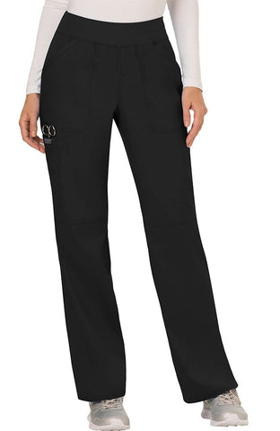 Revolution by Cherokee Workwear Women's Elastic Waistband Cargo Pull-On Pant - WW110