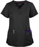 Purple Label by Healing Hands Jeni Solid Scrub Top - 2341