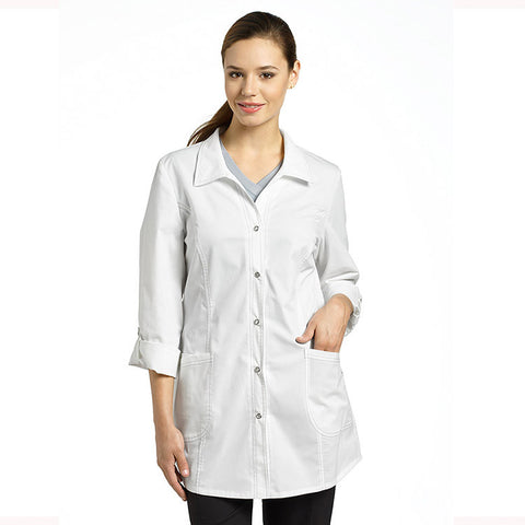 Allure by White Cross Shirt-Tail Lab Coat - 2497 - Mary Avenue Scrubs