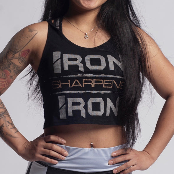 Iron Sharpens Iron Cropped Tank - Iron Apparel