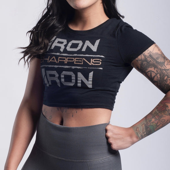 Iron Sharpens Iron Cropped Tee - Iron Apparel