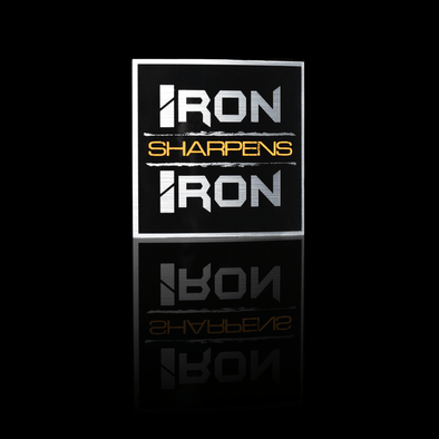 Iron Sharpens Iron Sticker - Iron Apparel
