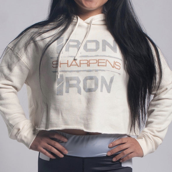 Precious Metal Cropped Hoodie - Iron Apparel