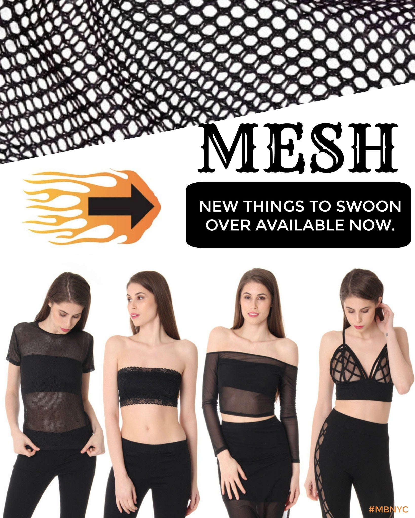 8130b173c5d4d We are head over heels for the new mesh that has just arrived on our  website. Some of our favorite items include