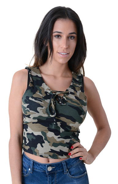 CAMOUFLAGED HEART CROP TOP