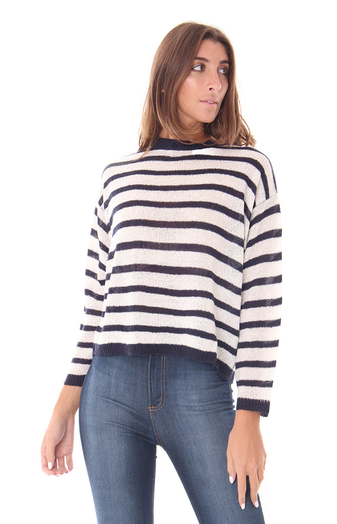 STRIPE TO THE POINT SWEATER