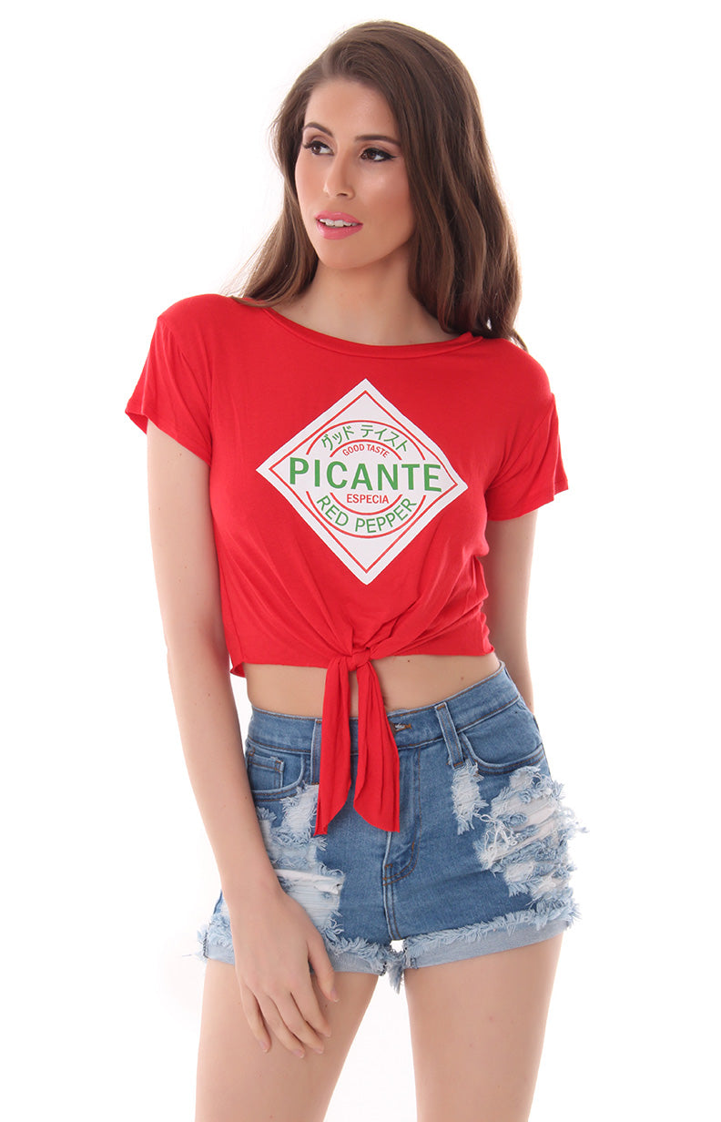 STAY SPICY CROP TOP