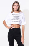 A REAL WOMAN GRAPHIC TEE