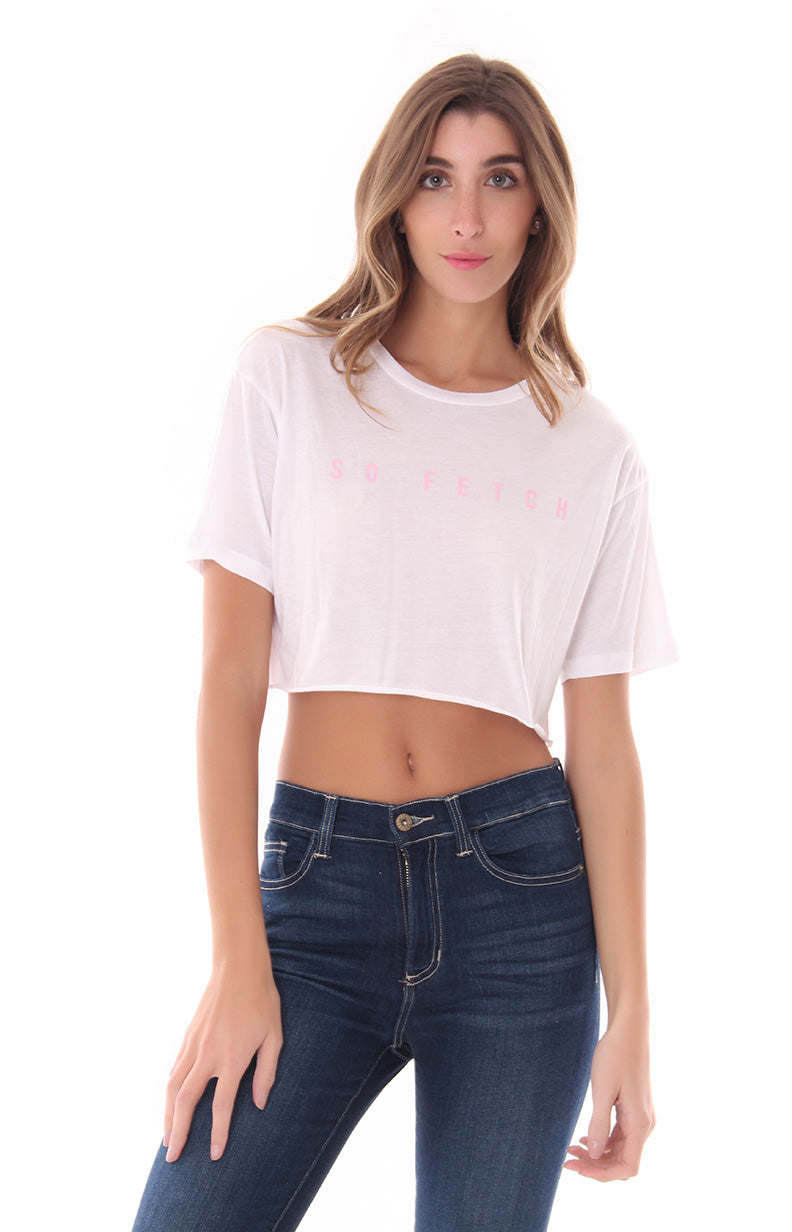 REMAIN KIND AND PATIENT CROP TOP