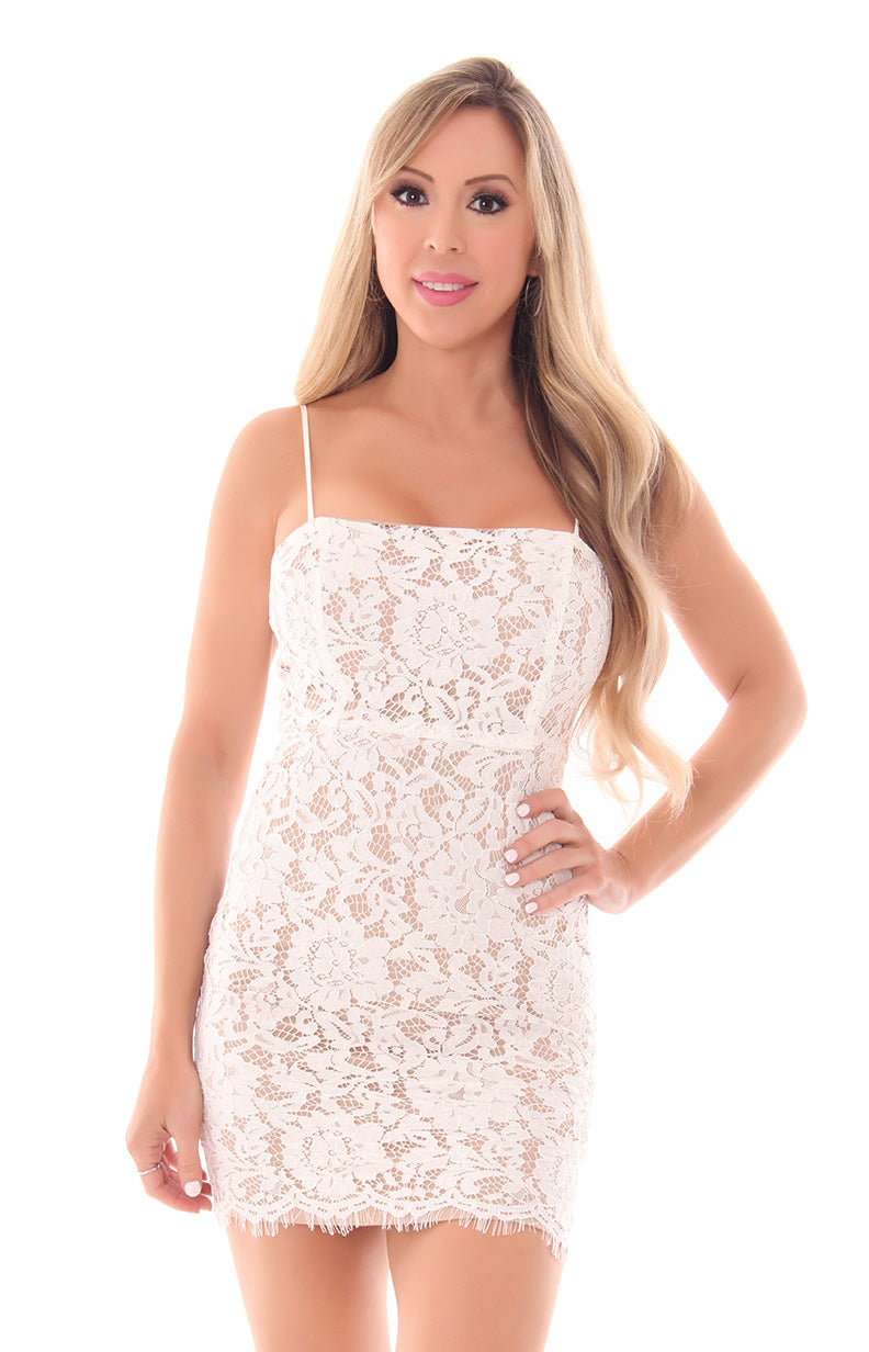 LACE YOUR FEARS DRESS
