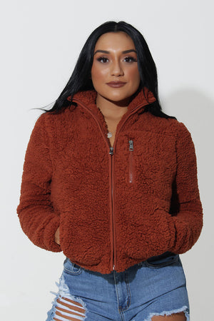 BROWN SUGAR FLEECE JACKET
