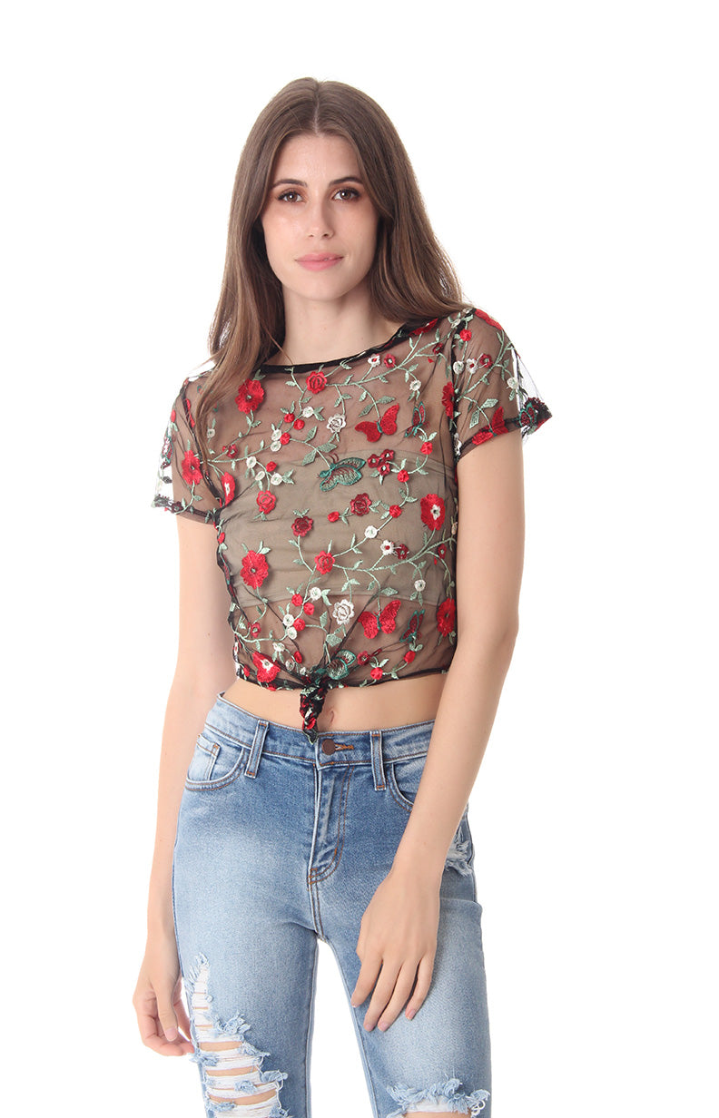 ROSE TO THE OCCASION TOP