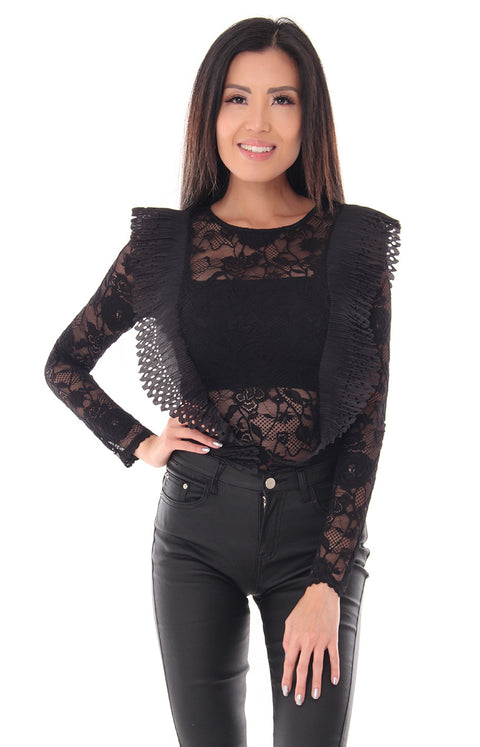FRILLS AND THRILLS BODYSUIT